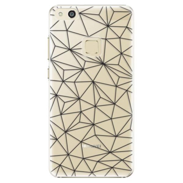 Plastové pouzdro iSaprio - Abstract Triangles 03 - black - Huawei P10 Lite