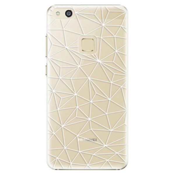 Plastové pouzdro iSaprio - Abstract Triangles 03 - white - Huawei P10 Lite