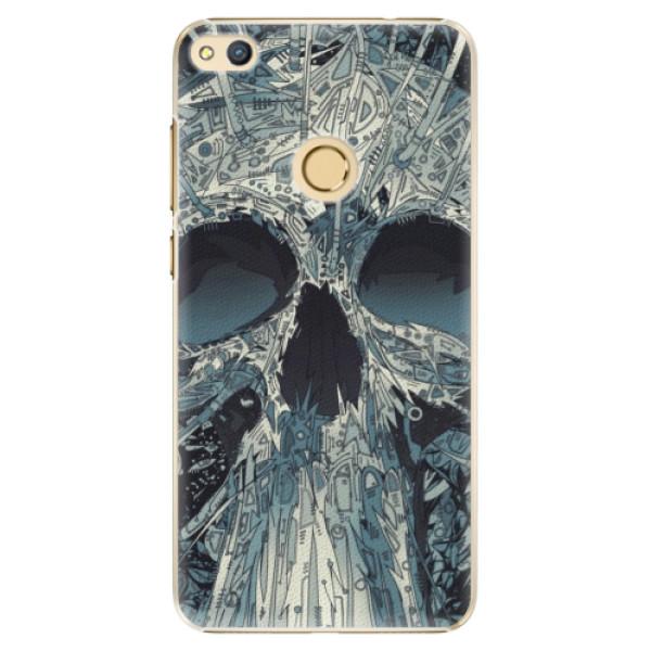 Plastové pouzdro iSaprio - Abstract Skull - Huawei Honor 8 Lite