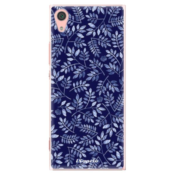 Plastové pouzdro iSaprio - Blue Leaves 05 - Sony Xperia XA1