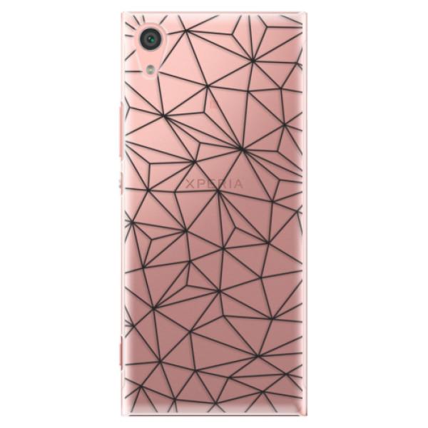 Plastové pouzdro iSaprio - Abstract Triangles 03 - black - Sony Xperia XA1