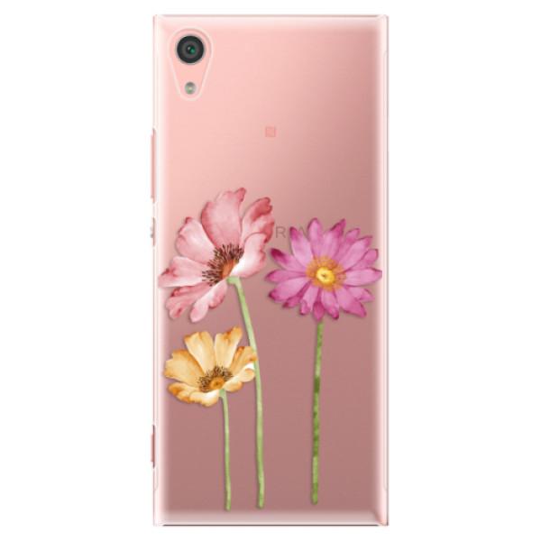 Plastové pouzdro iSaprio - Three Flowers - Sony Xperia XA1
