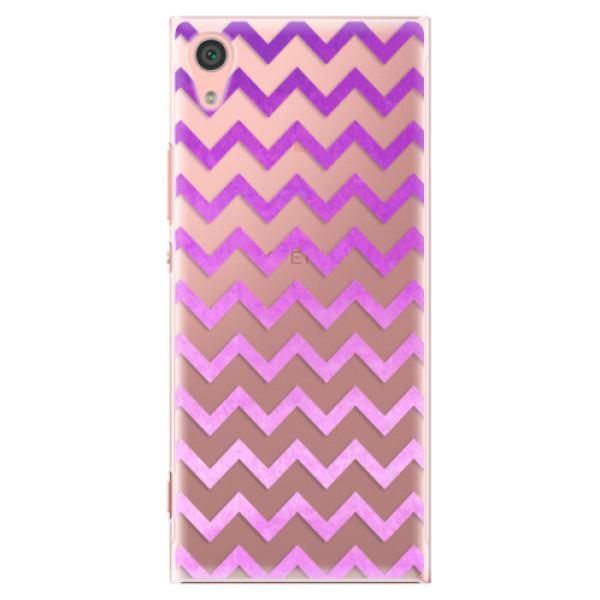 Plastové pouzdro iSaprio - Zigzag - purple - Sony Xperia XA1