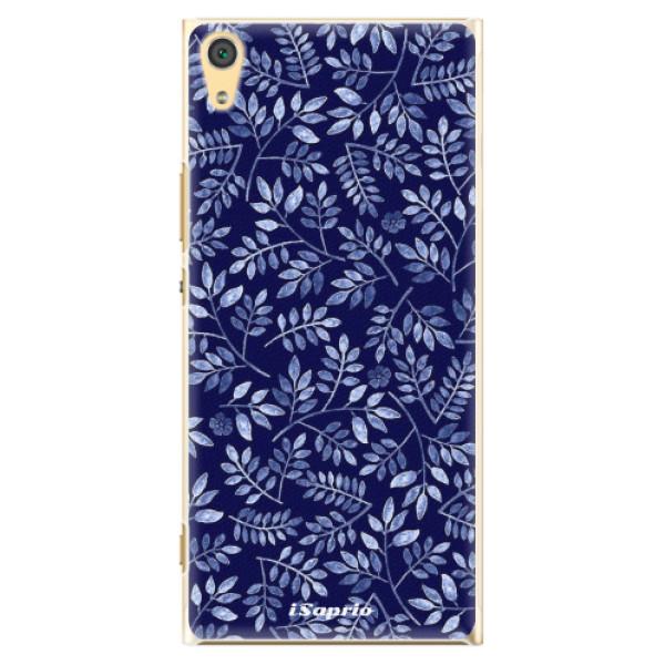 Plastové pouzdro iSaprio - Blue Leaves 05 - Sony Xperia XA1 Ultra
