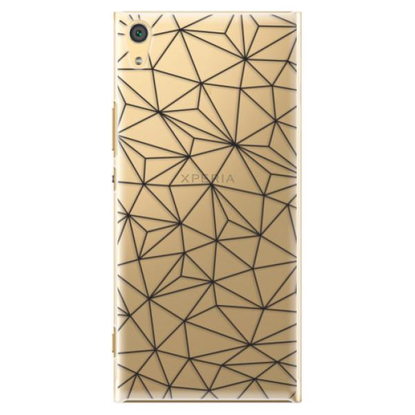 Plastové pouzdro iSaprio - Abstract Triangles 03 - black - Sony Xperia XA1 Ultra