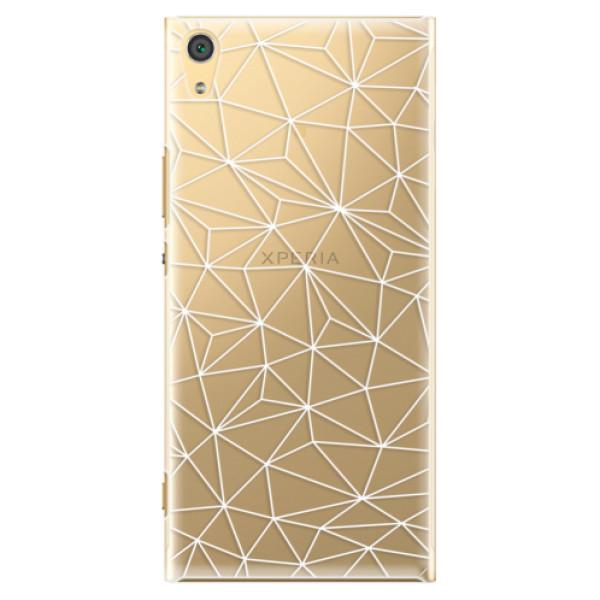 Plastové pouzdro iSaprio - Abstract Triangles 03 - white - Sony Xperia XA1 Ultra