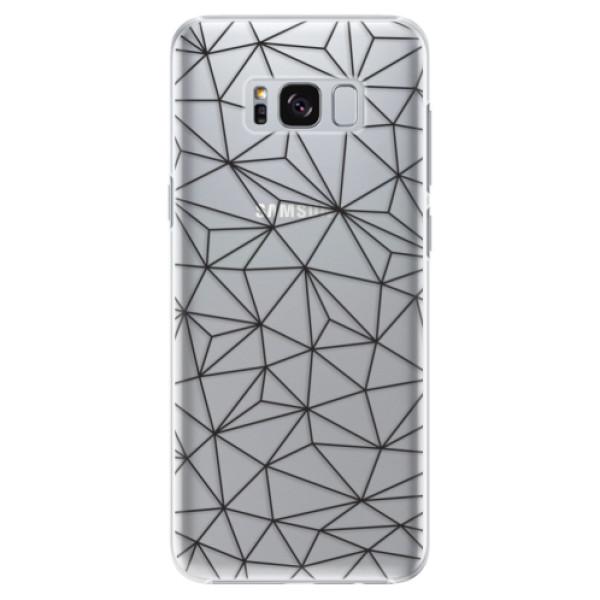 Plastové pouzdro iSaprio - Abstract Triangles 03 - black - Samsung Galaxy S8 Plus
