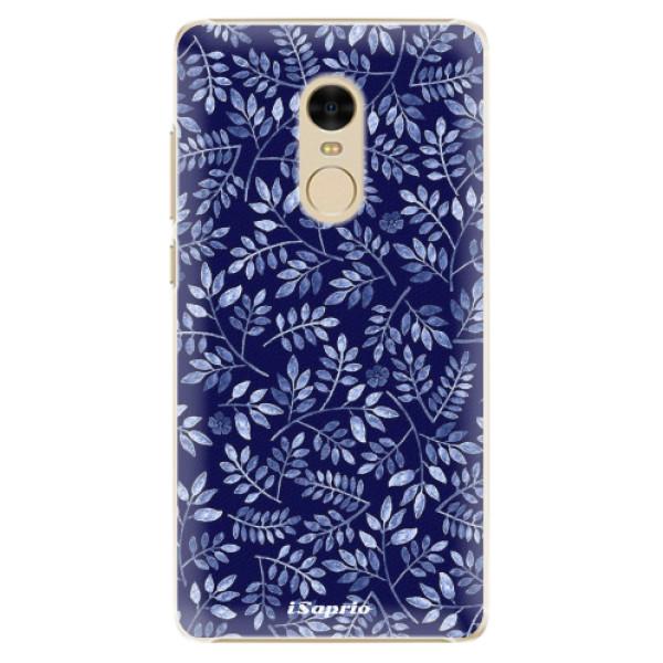 Plastové pouzdro iSaprio - Blue Leaves 05 - Xiaomi Redmi Note 4