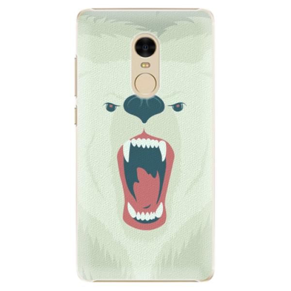 Plastové pouzdro iSaprio - Angry Bear - Xiaomi Redmi Note 4