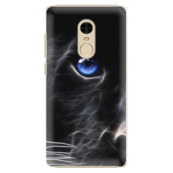 Plastové pouzdro iSaprio - Black Puma - Xiaomi Redmi Note 4