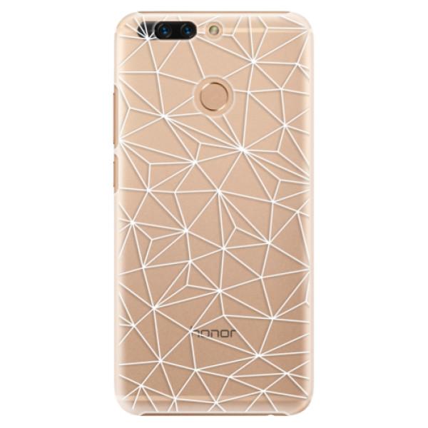 Plastové pouzdro iSaprio - Abstract Triangles 03 - white - Huawei Honor 8 Pro