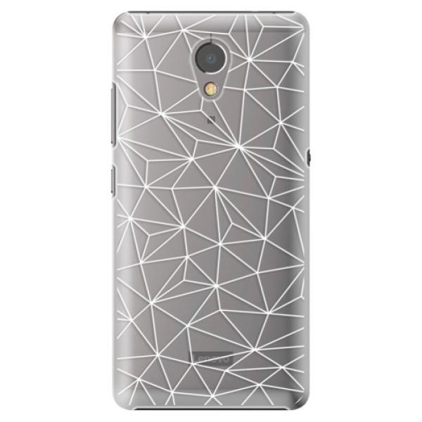 Plastové pouzdro iSaprio - Abstract Triangles 03 - white - Lenovo P2
