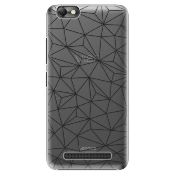 Plastové pouzdro iSaprio - Abstract Triangles 03 - black - Lenovo Vibe C