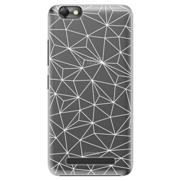 Plastové pouzdro iSaprio - Abstract Triangles 03 - white - Lenovo Vibe C