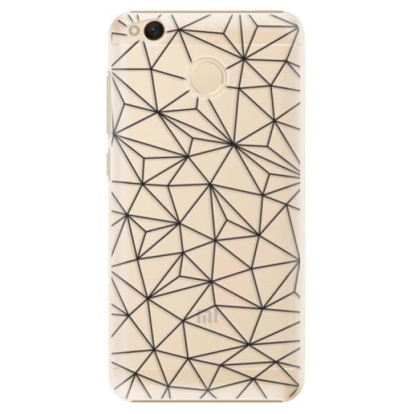 Plastové pouzdro iSaprio - Abstract Triangles 03 - black - Xiaomi Redmi 4X