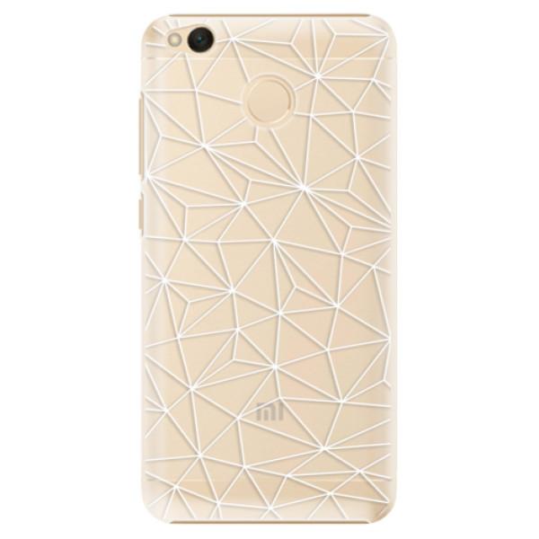 Plastové pouzdro iSaprio - Abstract Triangles 03 - white - Xiaomi Redmi 4X