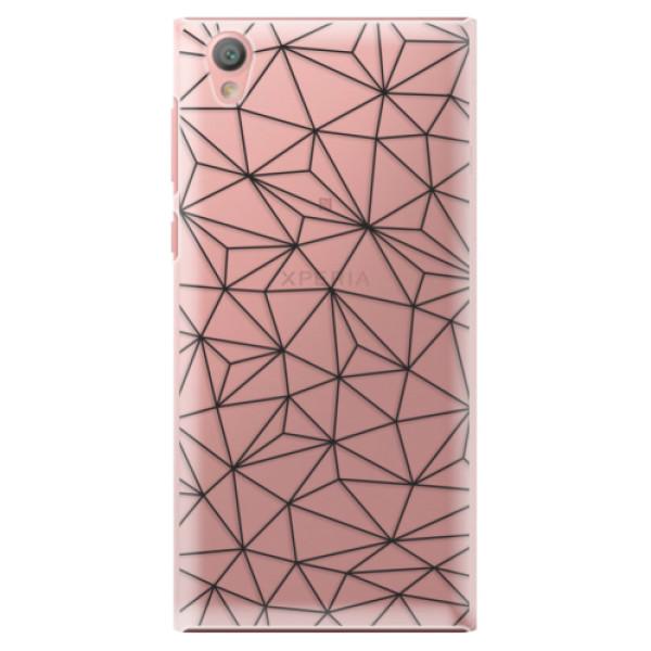 Plastové pouzdro iSaprio - Abstract Triangles 03 - black - Sony Xperia L1