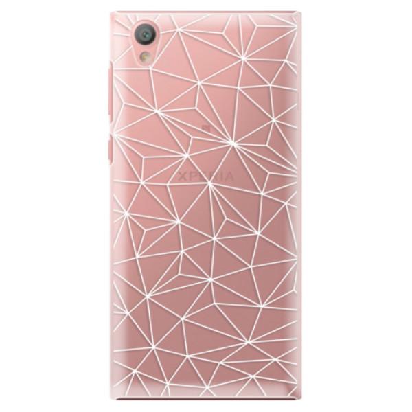 Plastové pouzdro iSaprio - Abstract Triangles 03 - white - Sony Xperia L1