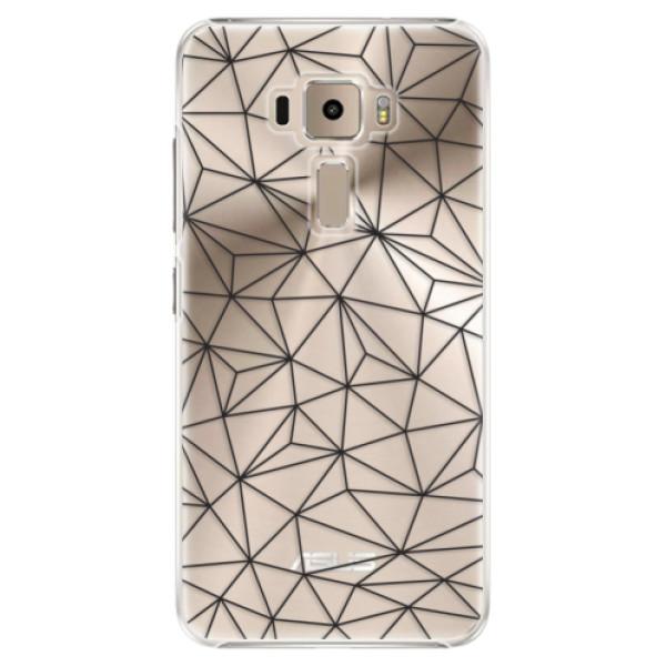Plastové pouzdro iSaprio - Abstract Triangles 03 - black - Asus ZenFone 3 ZE520KL