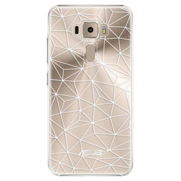 Plastové pouzdro iSaprio - Abstract Triangles 03 - white - Asus ZenFone 3 ZE520KL