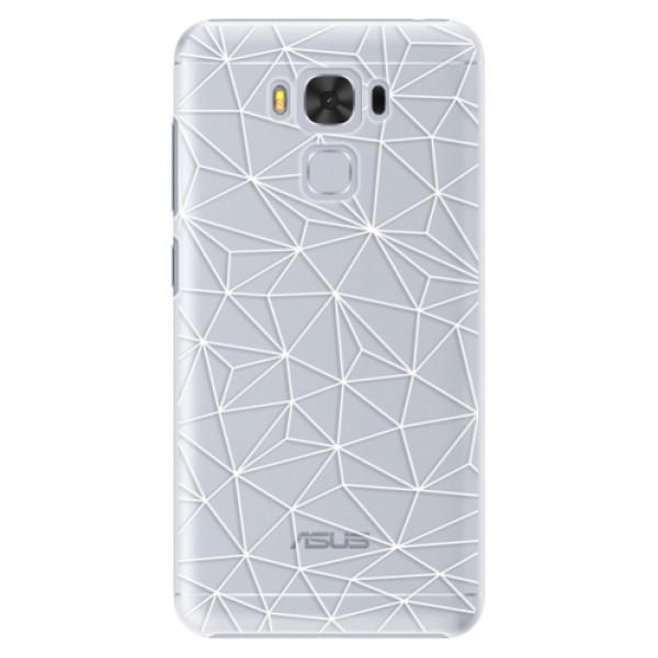 Plastové pouzdro iSaprio - Abstract Triangles 03 - white - Asus ZenFone 3 Max ZC553KL