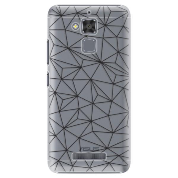 Plastové pouzdro iSaprio - Abstract Triangles 03 - black - Asus ZenFone 3 Max ZC520TL