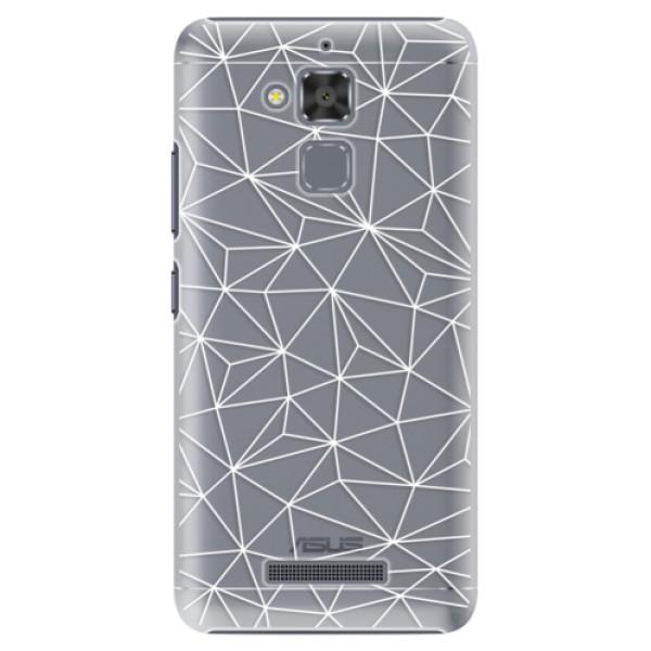 Plastové pouzdro iSaprio - Abstract Triangles 03 - white - Asus ZenFone 3 Max ZC520TL