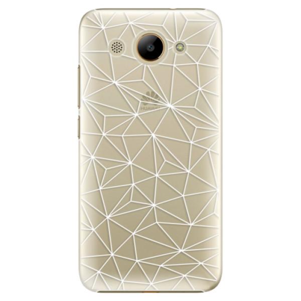 Plastové pouzdro iSaprio - Abstract Triangles 03 - white - Huawei Y3 2017