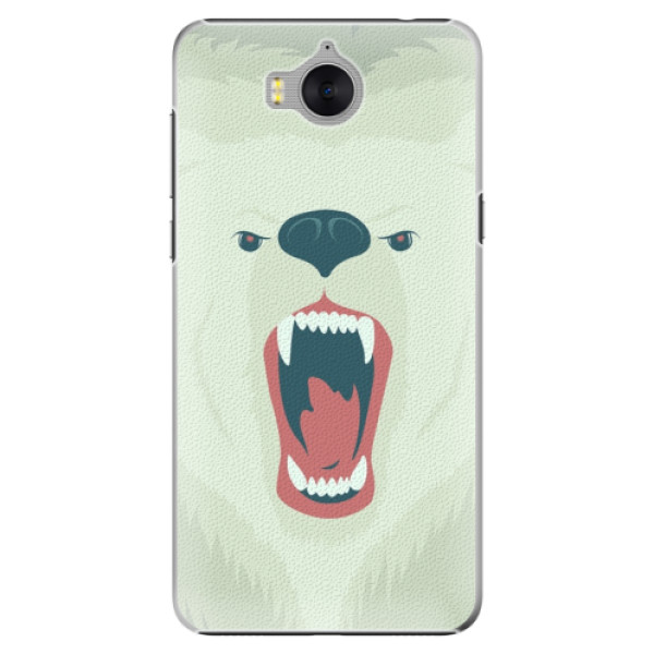 Plastové pouzdro iSaprio - Angry Bear - Huawei Y5 2017 / Y6 2017