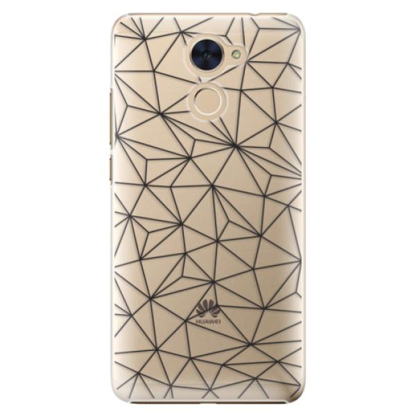 Plastové pouzdro iSaprio - Abstract Triangles 03 - black - Huawei Y7 / Y7 Prime