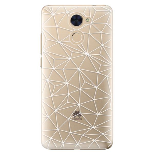 Plastové pouzdro iSaprio - Abstract Triangles 03 - white - Huawei Y7 / Y7 Prime