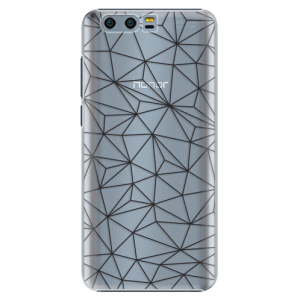 Plastové pouzdro iSaprio - Abstract Triangles 03 - black - Huawei Honor 9