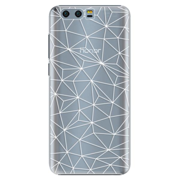 Plastové pouzdro iSaprio - Abstract Triangles 03 - white - Huawei Honor 9
