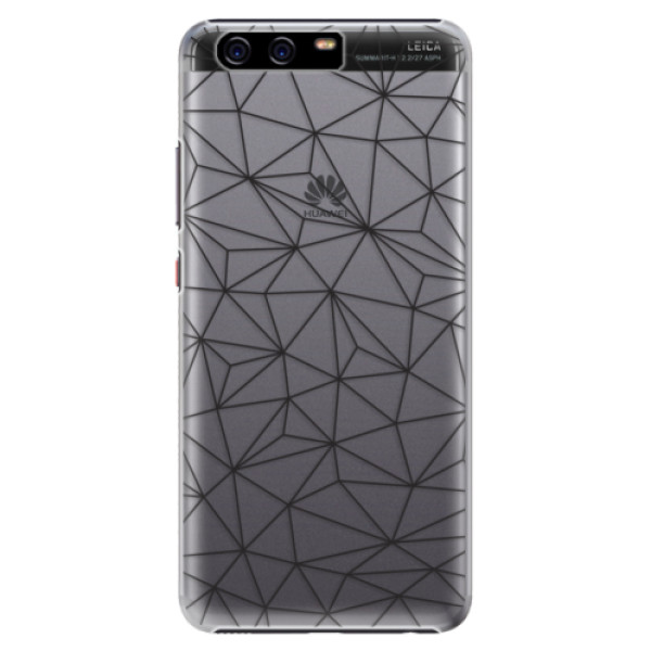 Plastové pouzdro iSaprio - Abstract Triangles 03 - black - Huawei P10 Plus