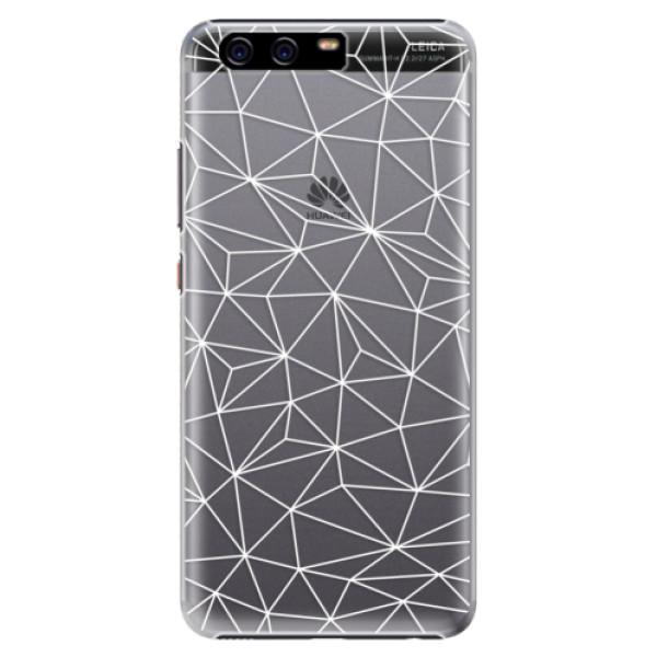 Plastové pouzdro iSaprio - Abstract Triangles 03 - white - Huawei P10 Plus