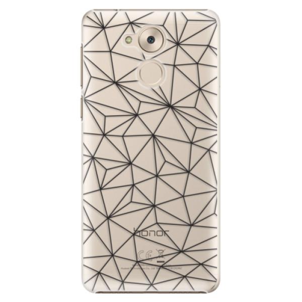 Plastové pouzdro iSaprio - Abstract Triangles 03 - black - Huawei Nova Smart