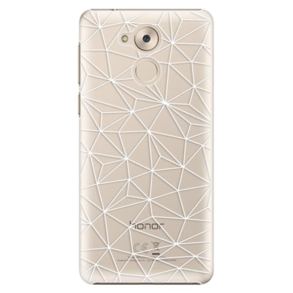Plastové pouzdro iSaprio - Abstract Triangles 03 - white - Huawei Nova Smart