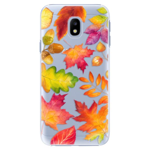 Plastové pouzdro iSaprio - Autumn Leaves 01 - Samsung Galaxy J3 2017
