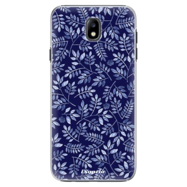 Plastové pouzdro iSaprio - Blue Leaves 05 - Samsung Galaxy J7 2017