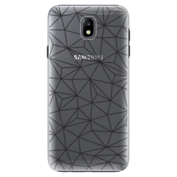 Plastové pouzdro iSaprio - Abstract Triangles 03 - black - Samsung Galaxy J7 2017