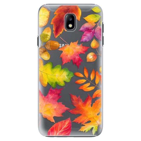 Plastové pouzdro iSaprio - Autumn Leaves 01 - Samsung Galaxy J7 2017