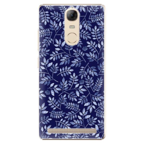 Plastové pouzdro iSaprio - Blue Leaves 05 - Lenovo K5 Note
