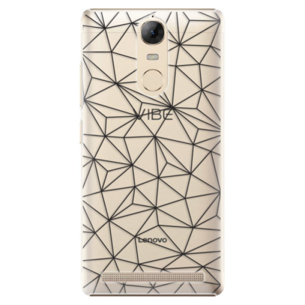 Plastové pouzdro iSaprio - Abstract Triangles 03 - black - Lenovo K5 Note