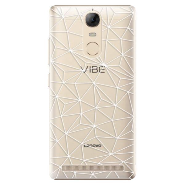 Plastové pouzdro iSaprio - Abstract Triangles 03 - white - Lenovo K5 Note