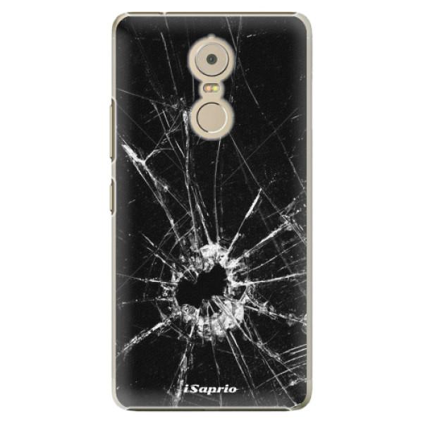 Plastové pouzdro iSaprio - Broken Glass 10 - Lenovo K6 Note