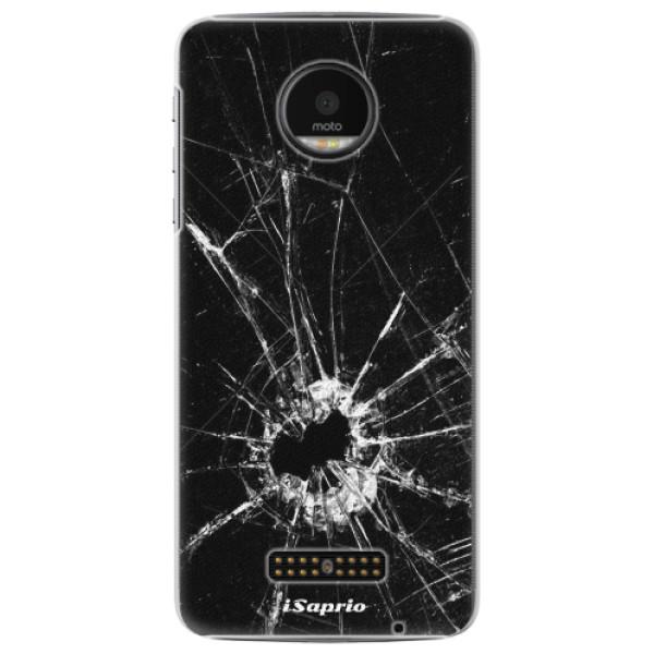 Plastové pouzdro iSaprio - Broken Glass 10 - Lenovo Moto Z