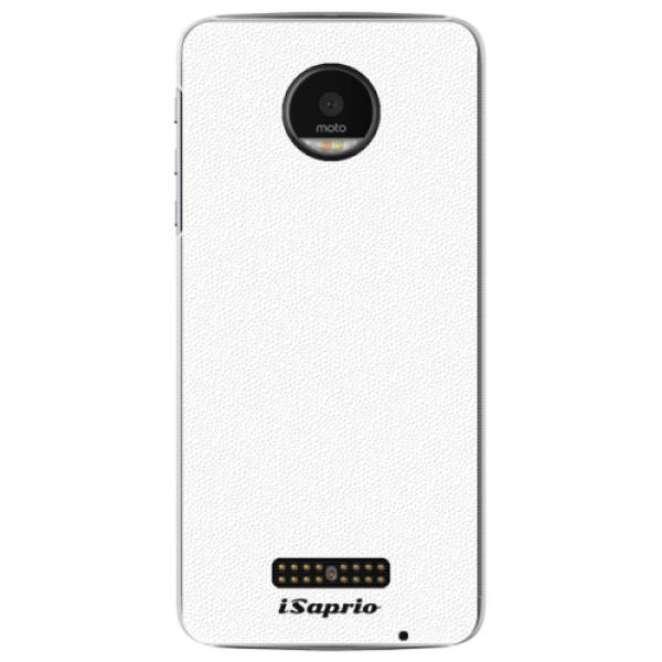 Plastové pouzdro iSaprio - 4Pure - bílý - Lenovo Moto Z