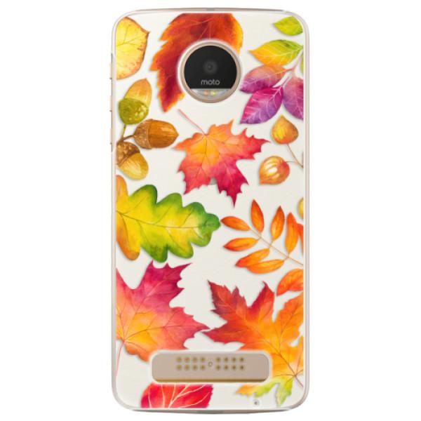 Plastové pouzdro iSaprio - Autumn Leaves 01 - Lenovo Moto Z Play