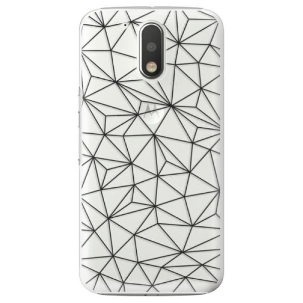 Plastové pouzdro iSaprio - Abstract Triangles 03 - black - Lenovo Moto G4 / G4 Plus