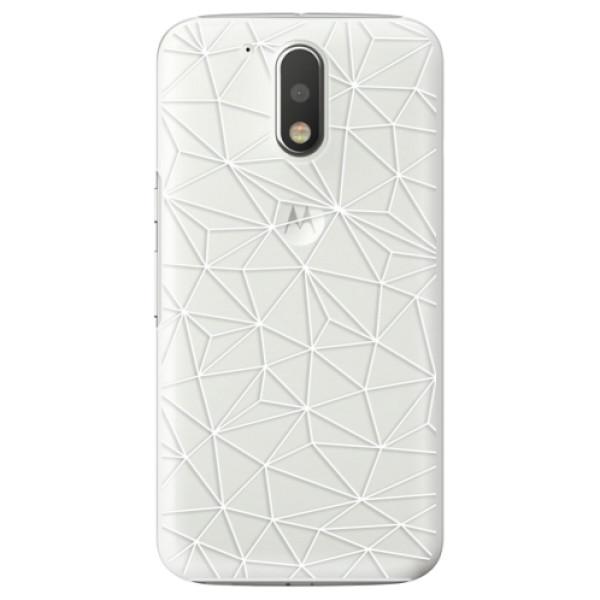 Plastové pouzdro iSaprio - Abstract Triangles 03 - white - Lenovo Moto G4 / G4 Plus
